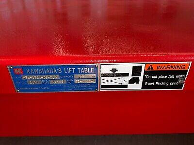 Brand New Never Used Kawahara Lift Table Ktl-1221-09-2.5