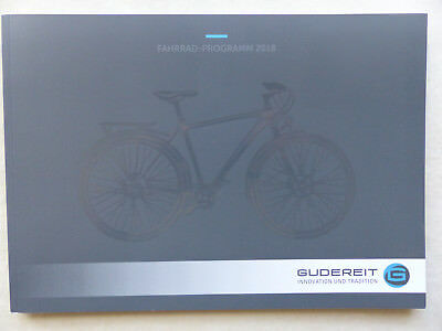 Gudereit Programa 2018 Bicicletas Eléctricas City Trekking X-Line - Folleto + Pl