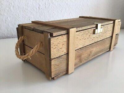 Kleine Holzbox *Holzkiste *Schatztruhe * Schmuckbox  24 x 8 x 11 cm Geschenkbox  Klappbarer Holz-box