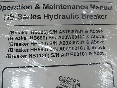 Bobcat Hb280 Hb680 Hb880 Hydraulic Breaker Owner Operator Maintenance Manual