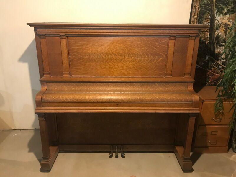 Story and Clark Upright Piano 1913 Quarter Sawn Oak