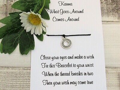 Karma Wish Bracelet Friends Gift Tibetan Charm Anklet Friendship Birthday