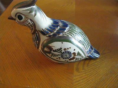 Large Mexico Pottery Bird Quail Figure Signed Mateos