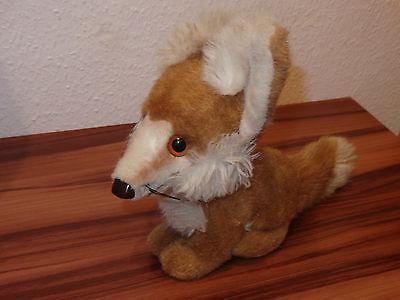 Älterer Steiff  Fuchs - sitzend  mit Knopf 27 cm hoch - Gut erhalten - Tiere