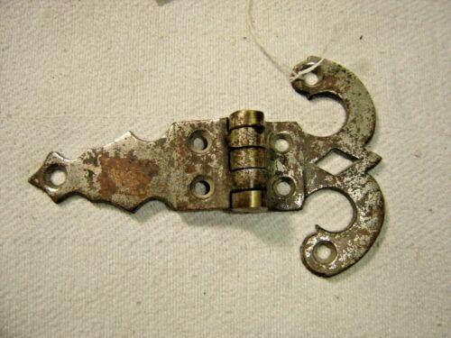 "Salvage ~Antique ~  Nickel over Brass Ice Box Hinge 3/8"" offset  ~ 1549"