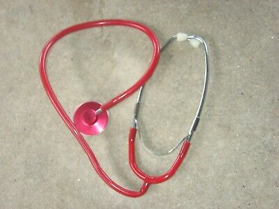 Vtg 30 Stethoscope Red Anodized Aluminumrubber Tubemedical Health Nurseworks