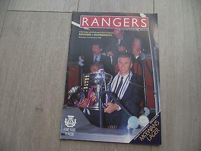 1987-88 Rangers v Motherwell - Scottish Premier League