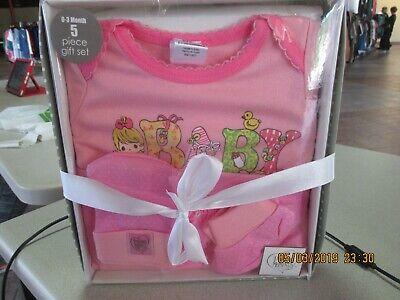 """Precious Moments 0-3 Mo. Girl/ """"Sweet Baby"""" Gift Set 5 Pc Box Set NIB Sweet Baby Gift"""