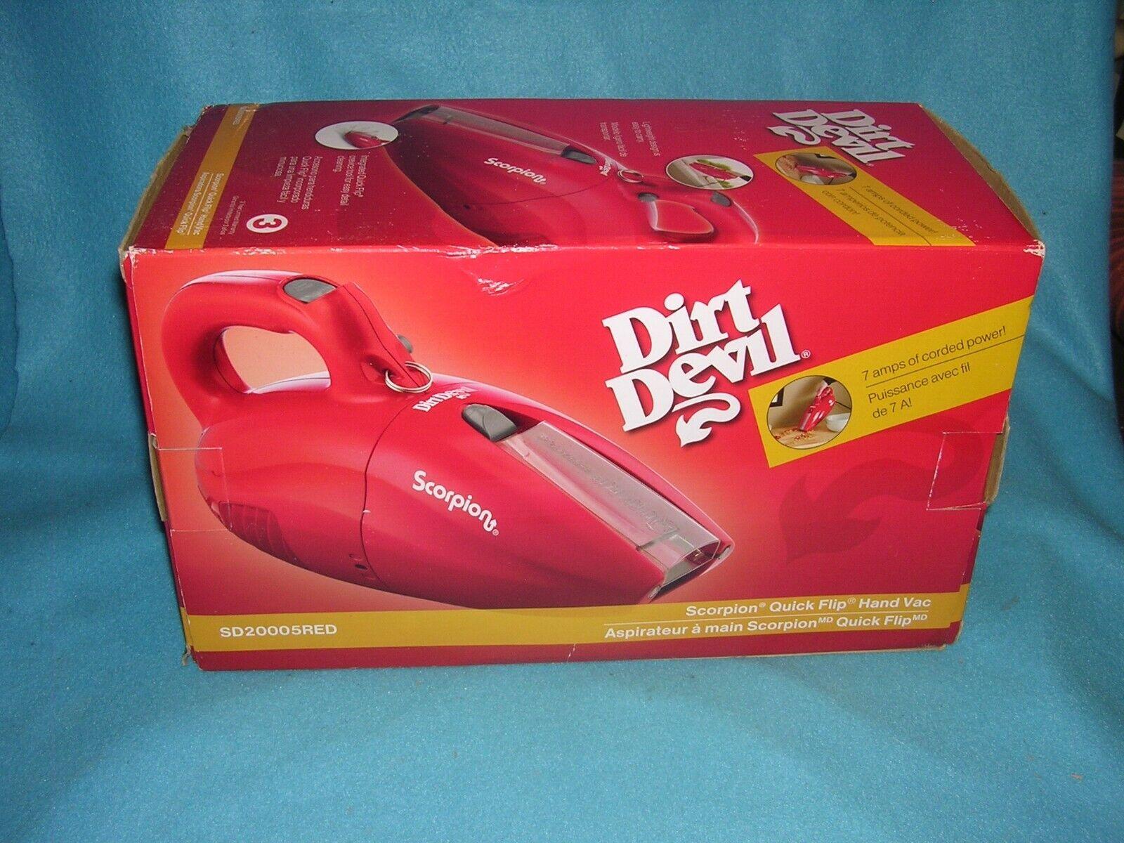 handheld scorpion quick flip vacuum cleaner red