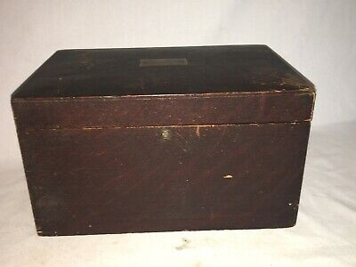 Vintage Humidor Tin Lined Antique Tobacciana