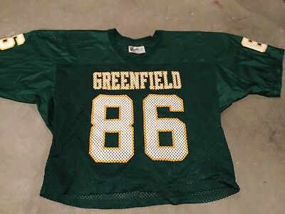5324730275f Greenfield Wisconsin VINTAGE HIGH SCHOOL FOOTBALL JERSEY 1980's Badger USA