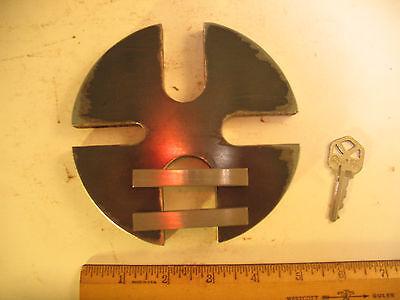 5 Dia. Steel 1.5 Ton Shop Arbor Press Anvil Wheel Plate Free Essential Bars
