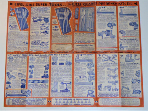 VTG 1952 EIFEL-GEARED PLIERENCH ADVERTING BROCHURE/POSTER! FOR THE ATOMIC AGE!