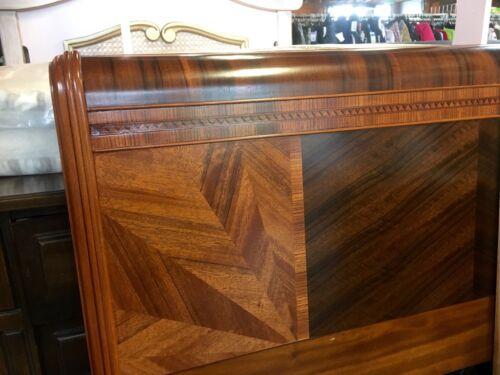 "Vintage Art Deco HeadBoard, Waterfall Wood Design Full/Twin  (56"" W x 40"" H)"
