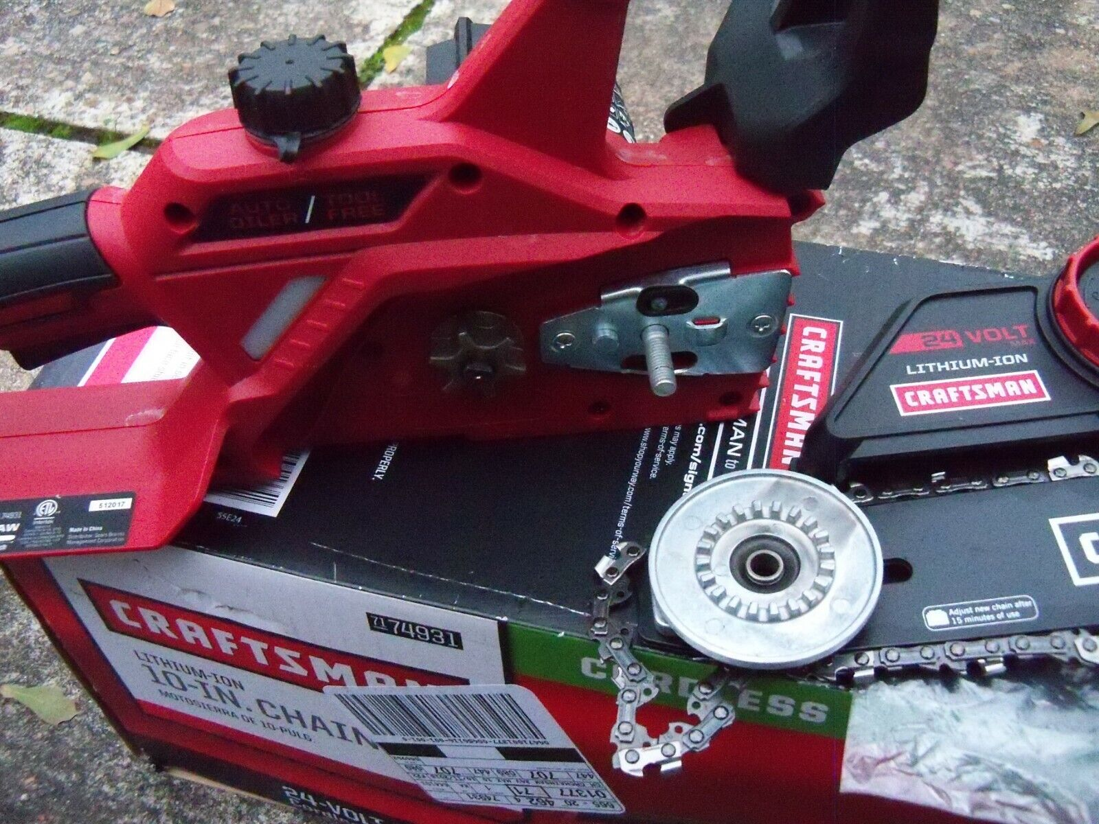 "Craftsman 74931 24V Max 10"" Electric Cordless Chainsaw  bare"
