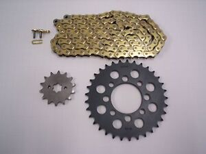 HONDA CMX250 REBEL SPROCKET 15/30 & GOLD CHAIN SET/KIT 1985 - 2013 CHANGED GEAR