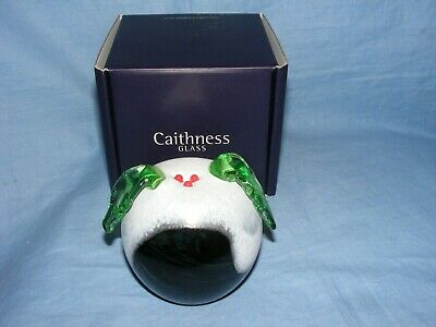 Caithness Glass Paperweight Christmas Pudding U19097 NEW Boxed Gift Present ()