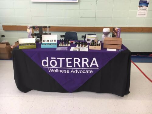 Custom Vendor Tablecloth Overlay- Doterra Essential Oils - Your Logo