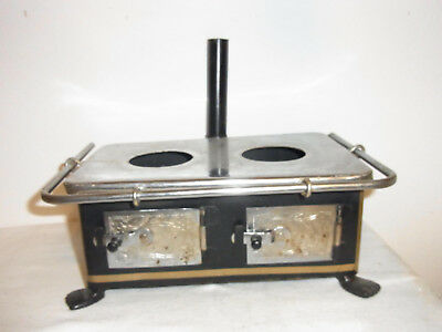 Vintage German Metal Dollhouse Doll Kitchen Oven #CA
