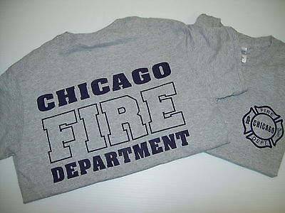 Chicago Fire Tshirts (Chicago Fire TV Show Grey/Navy Tee)