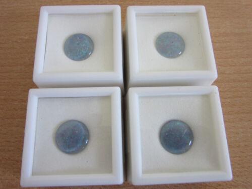(4) 14mm Round Opal Triplet Gemstone JTV