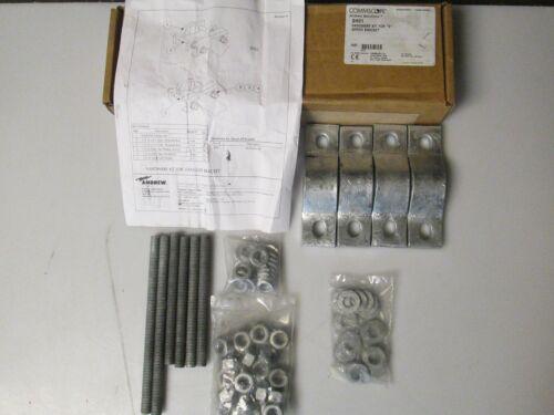 """Commscope Andrew Sh01 Install Hardware Kit For """"s"""" Series Bracket New"""