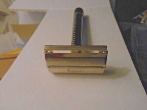 Vintage SCHICK KRONA Double Edge Safety Razor very good used Plastic Handle
