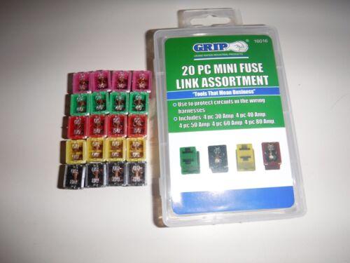 20 pc Mini Fuse Link JCase FMX Pal Cartridge Automotive Car fuse Assortment set
