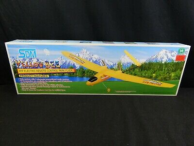 SDM YELLOW BEE RTF ELECTRIC REMOTE CONTROL RC PARK FLYER #3382 Flyer Remote Control Airplane
