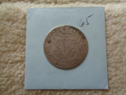 1764 Danish West Indies DWI 24 Skilling silver coin