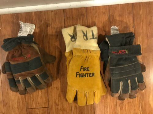 3 Sets Firefighting gloves, Protech 8 Titan, Protech 8, and long sleeve gloves L