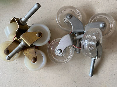 Vintage Lot Of 8 Casters Wht Clear Wheels - Furniture - 2 Sets