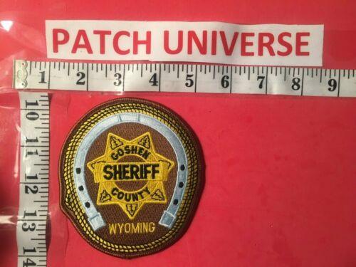 GOSHEN COUNTY  WYO SHERIFF  SHOULDER PATCH  S105