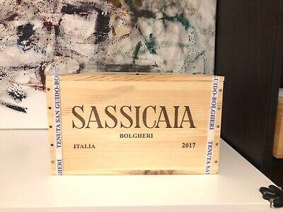 2017 SASSICAIA TENUTA SAN GUIDO - CASSA LEGNO 6 x 75 CL - SPEDIZIONE GRATUITA