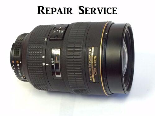 Repair service for Nikon lenses