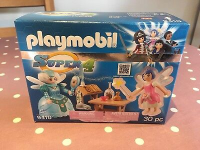 Playmobil Super 4 9410 Twinkle & Wise Fairy Toy Play Set 30 Piece New