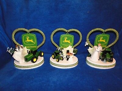 New John Deere Tractor Wedding Couple Cake Topper with Bride & Groom, 3 choices  - John Deere Cakes