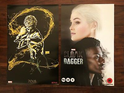 SDCC 2018 Marvel Iron Fist / Cloak & Dagger Posters 13 x 20 Marvel Booth Exclusi