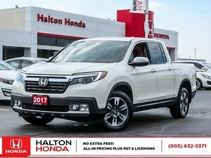 2017 Honda Ridgeline TOUR|ACCIDENT FREE|SERVICE HISTORY ON FILE