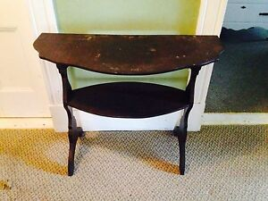 """Unique Vintage Hand Crafted Hall Table. 32.5"""" x 14.25"""" x 25.75"""""""