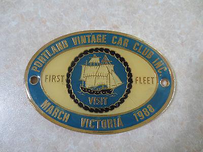 1988 Bicentenary First fleet Portland car badge for Holden Ford Austin Morris VW