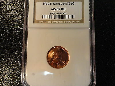 Click now to see the BUY IT NOW Price! 1960-D LINCOLN CENT- NGC MS 67 RD WITH SMALL DATE