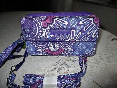 Vera Bradley  ALL IN ONE CROSSBODY  for iPhone 6+  LILAC TAPESTRY  NWT  RV $54