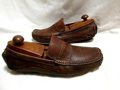 NIKE Training Brown Leather Penny Loafers Driving Mocs 10.5 M (Penny Driving Mocs)