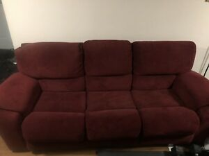 Dark red couch / sofa
