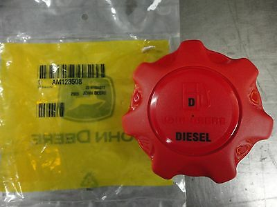 John Deere Genuine OEM Red Diesel Fuel Cap AM123508