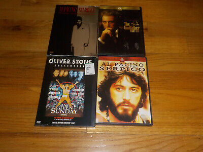 Al Pacino DVD Lot Serpico / The Godfather 3 / Any Given Sunday / Scarface