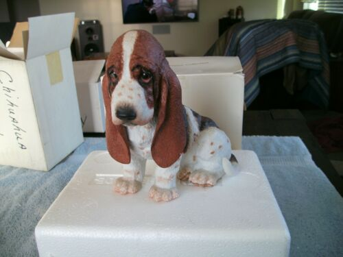 "2000 LENOX BASSET HOUND PUPPY LIMITED EDITION IN BOX WITH COA 6 1/2"" TALL"