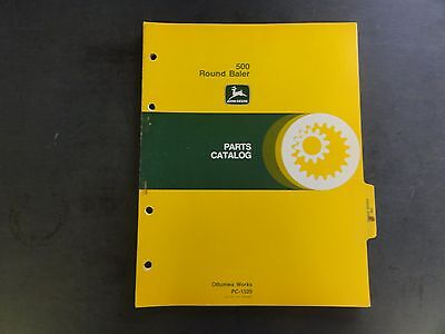 John Deere 500 Round Baler Parts Catalog Pc-1529