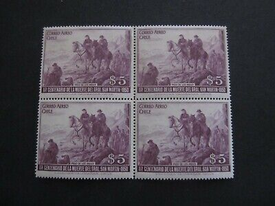 CHILE - BLOCK OF STAMPS - LIQUIDATION STOCK -  EXCELLENT OLD STAMPS - 3375/21